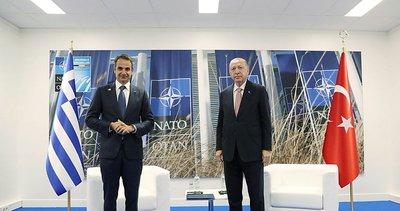 Son dakika: Başkan Erdoğan ile Yunanistan Başbakanı Miçotakis arasında önemli görüşme