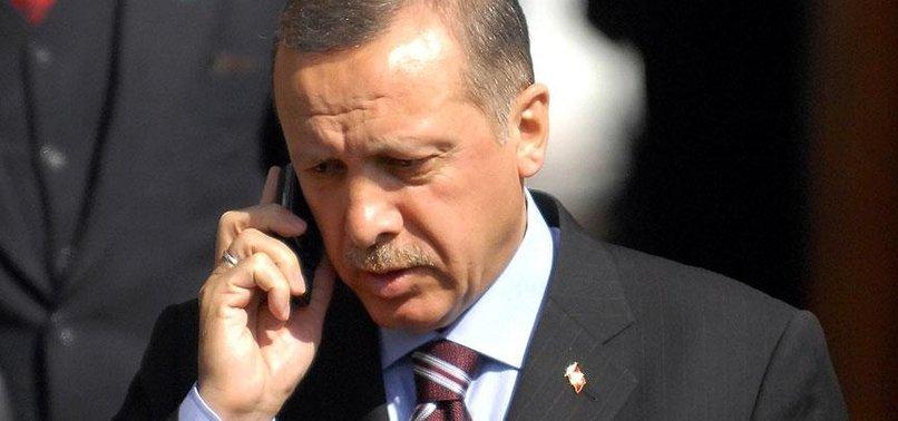 ERDOĞAN'DAN SANCAKLI'YA TAZİYE TELEFONU