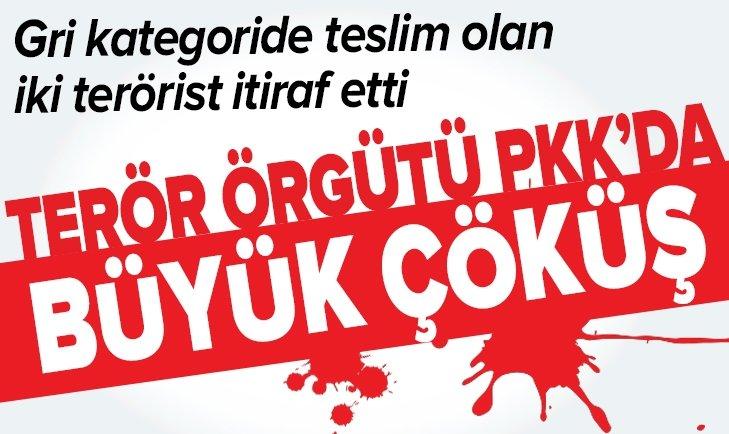 TERÖR ÖRGÜTÜ PKK'DA BÜYÜK ÇÖKÜŞ!