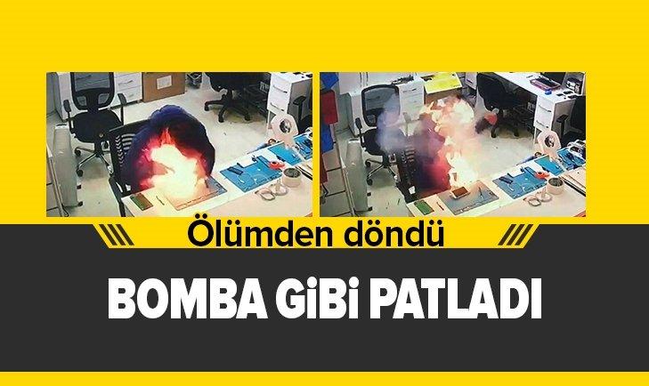 CEP TELEFONU BATARYASI BOMBA GİBİ PATLADI