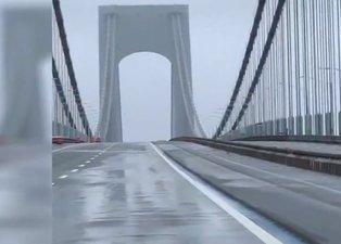 Köprüden gelen ses ürküttü! Dev köprü kağıt gibi sallandı