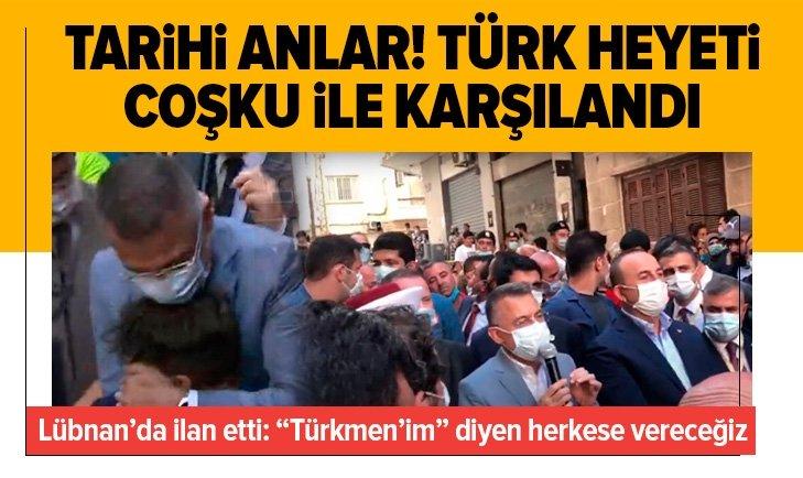 Türk heyeti Beyrut'ta coşku ile karşılandı