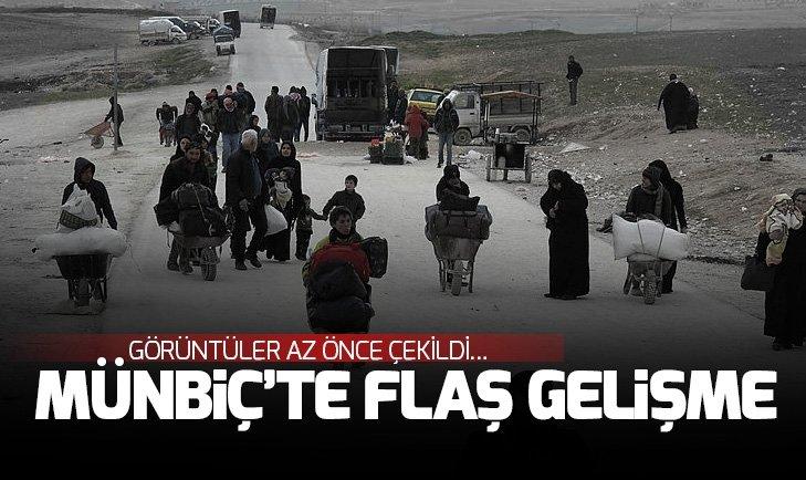 MÜNBİÇ'TE FLAŞ GELİŞME! SİVİLLER BÖLGEYİ TERK EDİYOR
