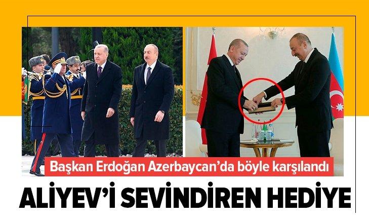 ERDOĞAN'A AZERBAYCAN'DA RESMİ KARŞILAMA TÖRENİ