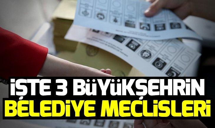 İstanbul, Ankara ve İzmir'in belediye meclisleri netleşmeye başladı