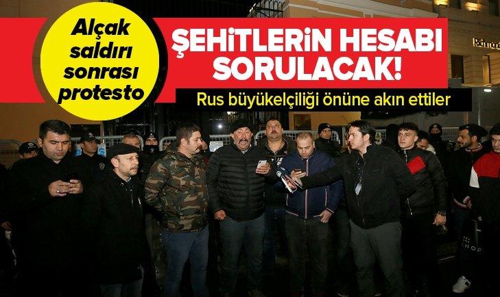 ALÇAK SALDIRI SONRASI İSTANBUL'DA PROTESTO
