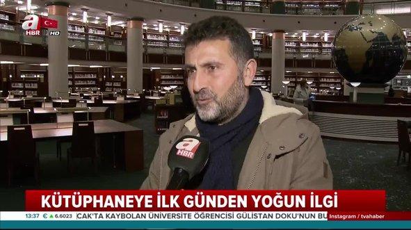 Türkiye'nin en büyük kütüphanesine ilk günden büyük ilgi