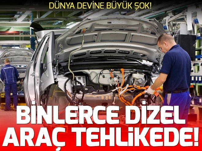 ALMAN DEVİNİN BİNLERCE DİZEL ARACINDA TEHLİKE!
