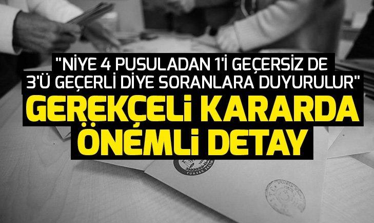 YSK AK Parti Temsilcisi Recep Özel'den gerekçeli kararla ilgili açıklama: YSK diyor ki...