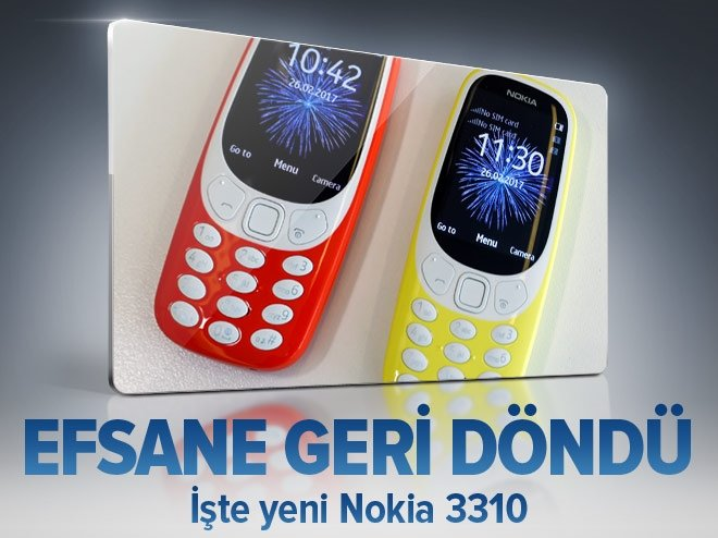 EFSANE TELEFON NOKİA 3310 GERİ DÖNDÜ