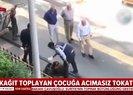 Diyarbakırda zabıta yelekli şahıs kağıt toplayan çocuğu tokatladı |Video