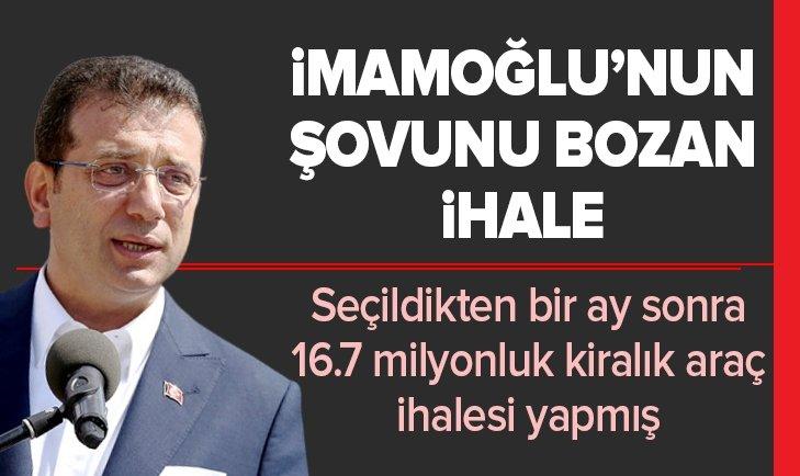 Ekrem İmamoğlu'nun şovunu bozan ihale!