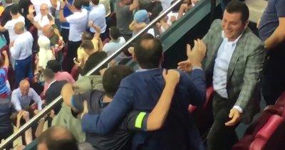Trabzonspor-Sparta Prag maçında Bakan Berat Albayrak gol ardından büyük sevinç yaşadı | Video