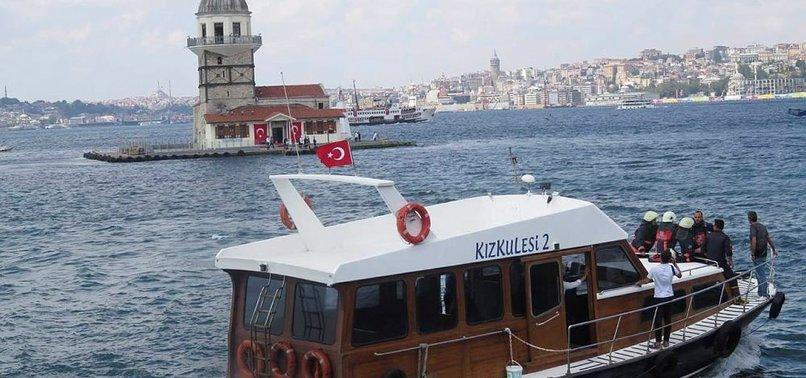 KIZ KULESİ'NDE YANGIN PANİĞİ!