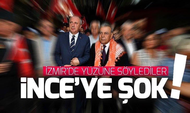 İZMİR'DE MUHARREM İNCE'YE ŞOK TEPKİ