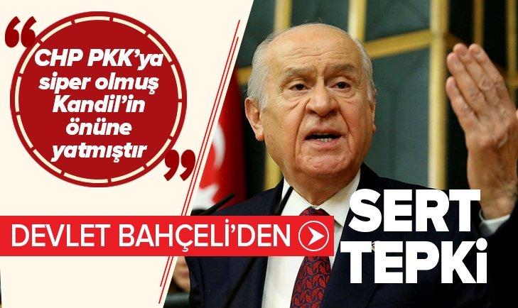 BAHÇELİ: CHP PKK'YASİPER OLMUŞ KANDİL'İN ÖNÜNE YATMIŞTIR
