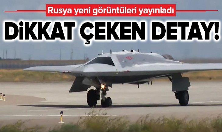 RUSYA'NIN 'AVCI DRONE'UNDAN YENİ GÖRÜNTÜ