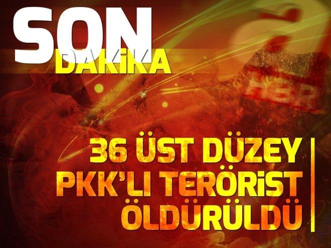 36 üst düzey PKK'lı terörist öldürüldü