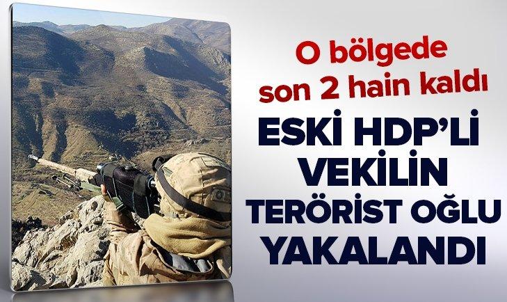 Eski HDP'li vekil Demir Çelik'in terörist oğlu yakalandı! O bölgede son 2 hain kaldı...