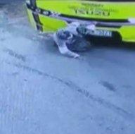 Aksarayda yürek yakan kaza! Zavallı yaşlı kadın otobüsün altında kaldı! Hastaneye gitmemek için diretince...