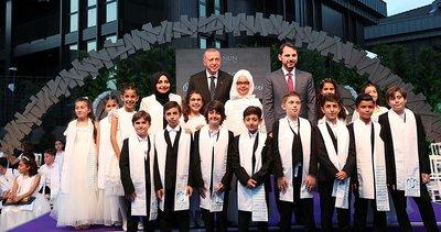 Başkan Erdoğan torunu Mahinur Albayrak'ın mezuniyet törenine katıldı