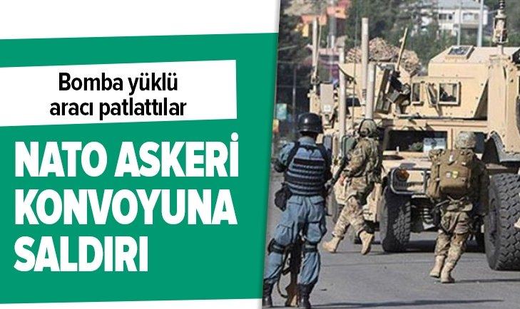 AFGANİSTAN'DA NATO ASKERİ KONVOYUNA SALDIRI