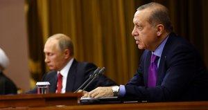Cumhurbaşkanı Erdoğan Soçi açıklamasında Putin ve Ruhaniyi uyardı
