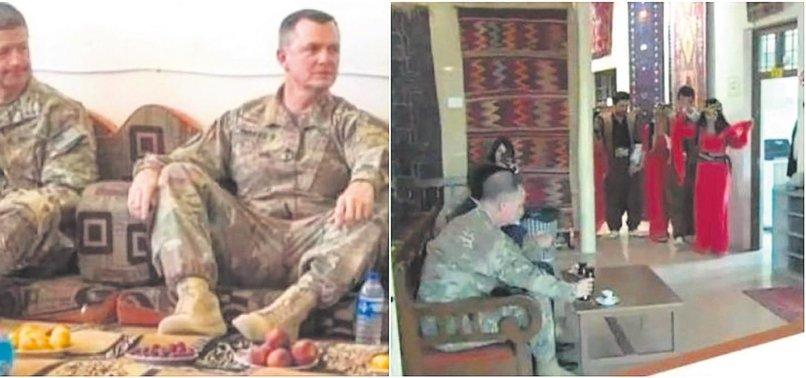 PKK/YPG'Lİ TERÖRİSTLER ABD'Lİ GENERALİ EĞLENDİRMEK İÇİN DANSÖZ OLDULAR
