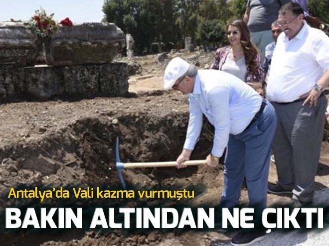 VALİ'NİN İLK KAZMAYI VURDUĞU YERDE BAKIN NE ÇIKTI!