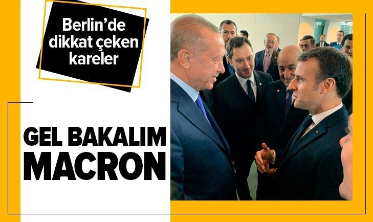 ERDOĞAN İLE MACRON'DAN DİKKAT ÇEKEN KARELER...