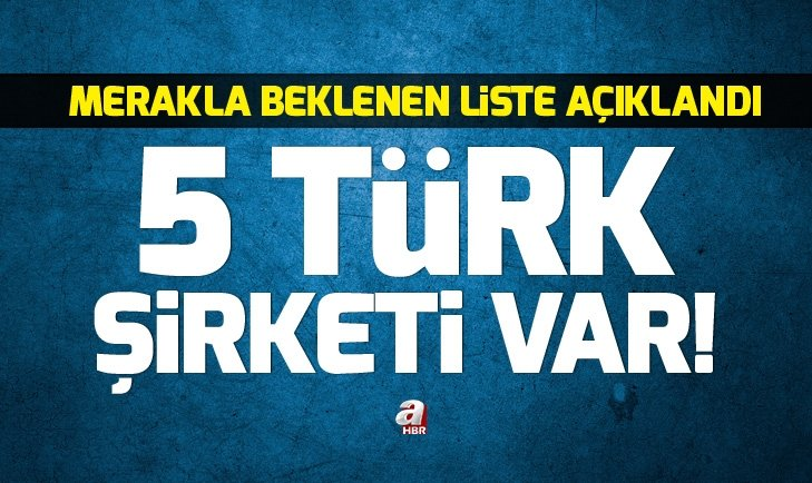 Forbes açıkladı! Listede 5 Türk şirketi var...