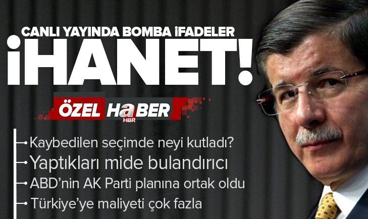 Davutoğlu hakkında bomba iddia: Seçimleri kaybedince kutlama yaptı! Davutoğlu ve ekibi neyi kutladı?
