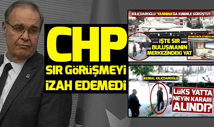 CHP sır görüşmeyi izah edemedi