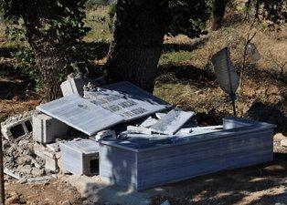 Gaziantep'te şehidin hatırasına çirkin saldırı