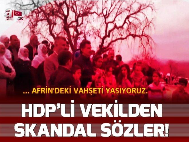 HDP'Lİ VEKİLDEN SKANDAL AFRİN SÖZLERİ!