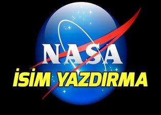 NASA isim yazdırma nasıl yapılır? İsmini Mars'a gönderelim başvuru ekranı!