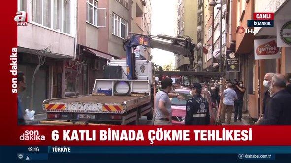 Şişli'de 6 katlı apartmanda çökme tehlikesi
