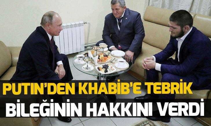 PUTİN'DEN NURMAGOMEDOV'A TEBRİK