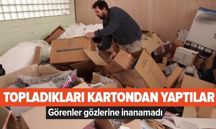KARTONDAN YAPTILAR GÖRENLER GÖZLERİNE İNANAMADI!