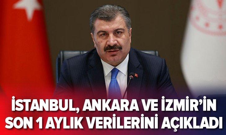 İstanbul, Ankara ve İzmir'in 1 aylık verilerini açıkladı!