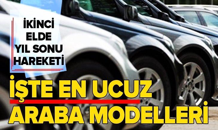 İKİNCİ ELDE HAREKET BAŞLADI! İŞTE EN UCUZ OTOMOBİLLER...