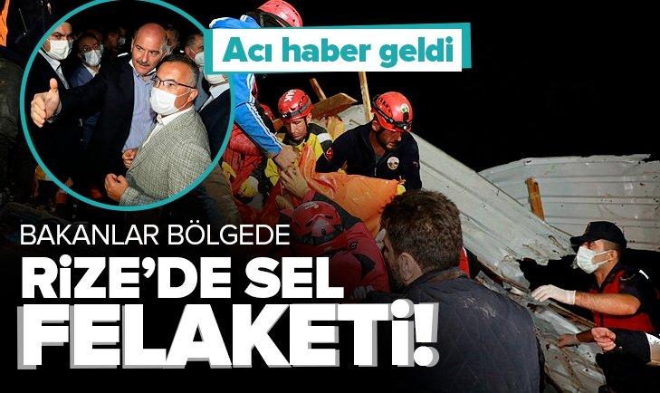 Son dakika: Rize'de sel felaketi! Başkan Erdoğan'ın talimatıyla 3 bakan bölgede!