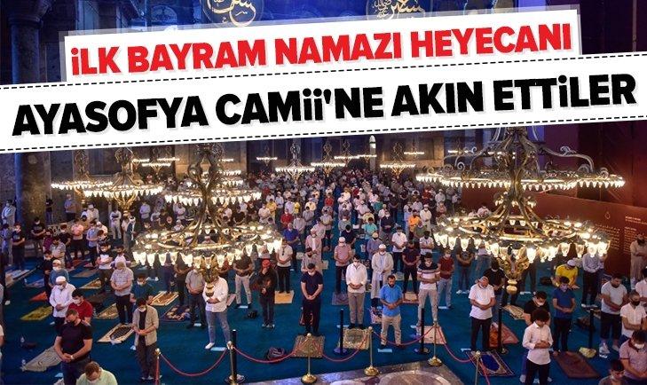 Ayasofya Camii'nde tarihi anlar!