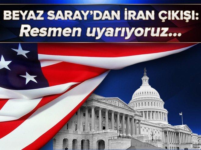 BEYAZ SARAY'DAN İRAN'A BALİSTİK FÜZE ÇIKIŞI
