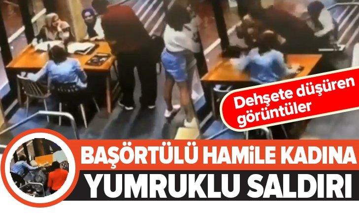 BAŞÖRTÜLÜ HAMİLE KADINA ÇİRKİN SALDIRI!