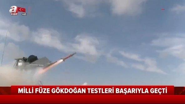 Yerli ve milli füze Gökdoğan hedefi 12'den vurdu