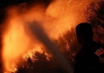 Son dakika: Bodrum'da korkutan yangın