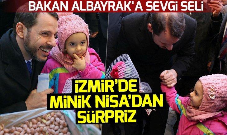 Bakan Albayraktan İzmirde esnaf ziyareti!