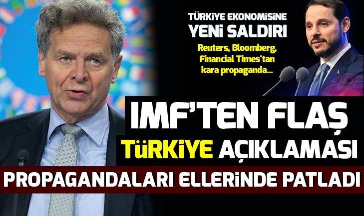 IMF'ten flaş açıklama: Türkiye ile resmi veya perde arkasında görüşme yok