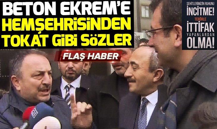 CHPnin adayı Ekrem İmamoğluna hemşehrisinden HDP çıkışı!
